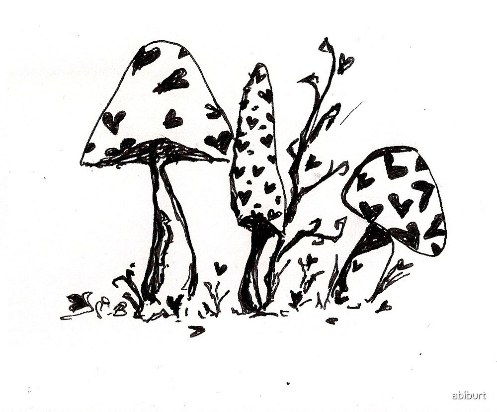 Wonderland Mushrooms by abiburt