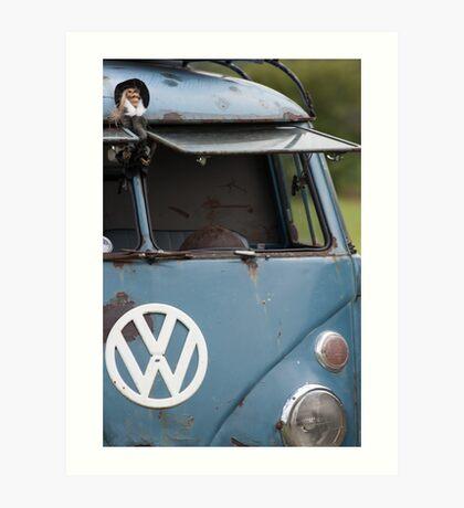 VW split screen camper van  Art Print