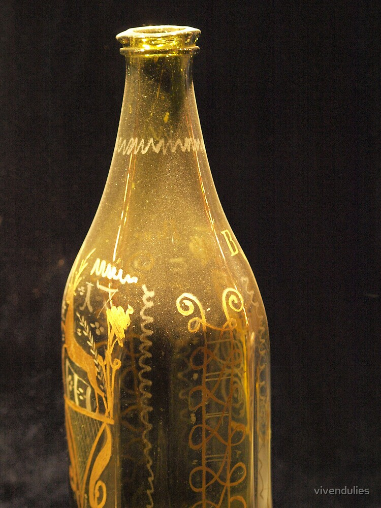 Old Bottle with Ornaments  VRS2 by vivendulies