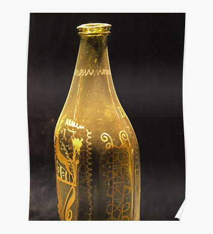 Old Bottle with Ornaments  VRS2 Poster