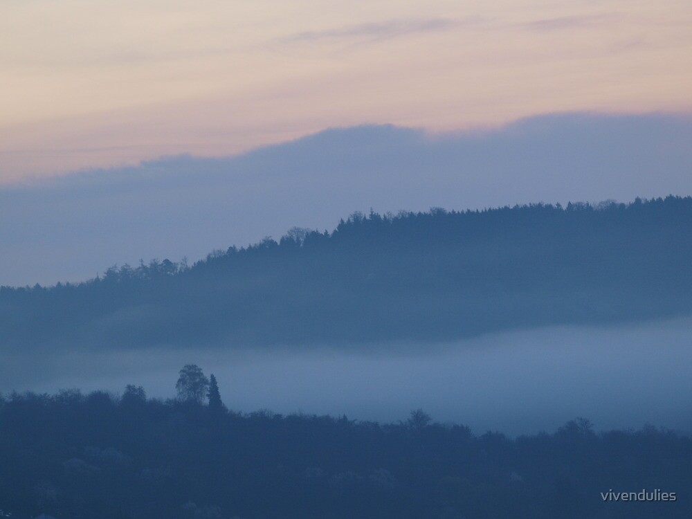 Mist in the Early Morning Valley  VRS2 by vivendulies