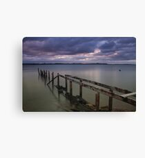 Old Jetty @ Cleveland Point Canvas Print