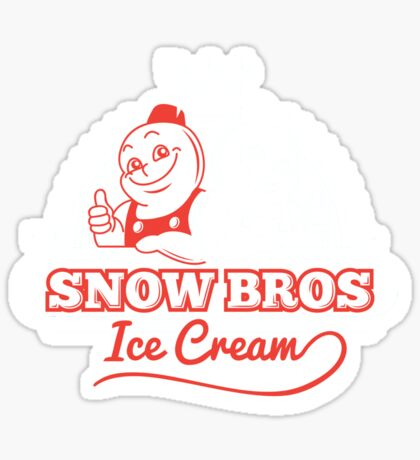 Snow Bros Ice Cream Sticker