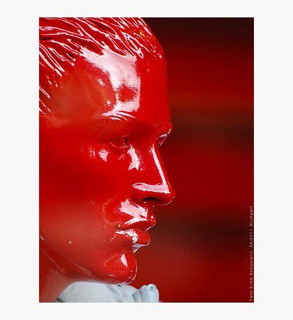Red Dummy Head  VRS2 Photographic Print