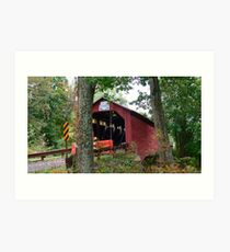 Paar's Mll Covered Bridge_Columbia County Pennsylvania Art Print