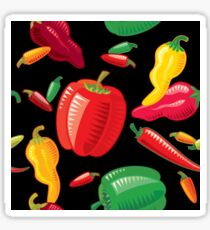 Hot Peppers Glossy Sticker