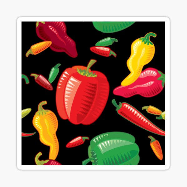 Hot Peppers Sticker