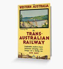 Vintage poster - Western Australia Greeting Card