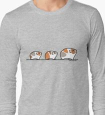 Mother Guinea-pig with Babies Long Sleeve T-Shirt