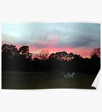 Colorful Sky Above The Trees Poster