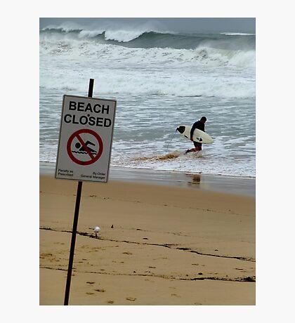 Beach Closed Photographic Print
