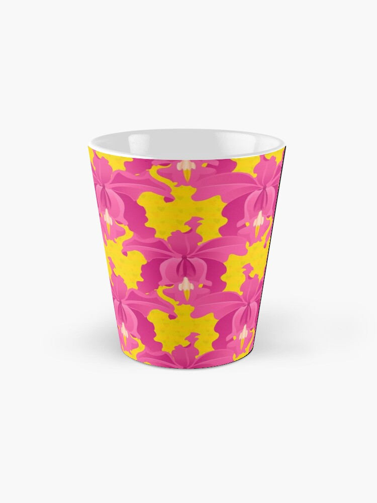 Alternate view of Pink Orchids Mug
