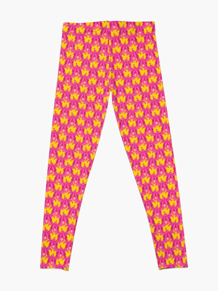 Alternate view of Pink Orchids Leggings