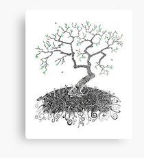 A Doodle Planted Metal Print