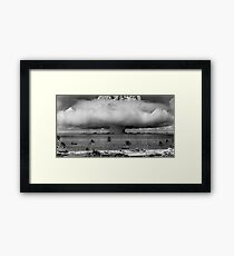 Atomic Bomb Mushroom Cloud Operation Crossroads Baker Test Framed Print