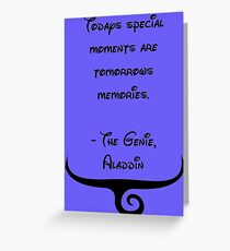 The Genie, Aladdin Quote Greeting Card
