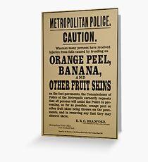 Police Warning Greeting Card