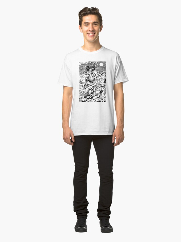 Alternate view of Ghoul Feeding (Black) Classic T-Shirt