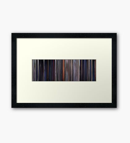Moviebarcode: The Outsiders (1983) Framed Print