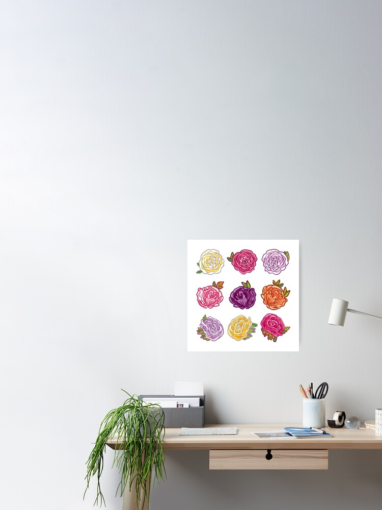 Alternate view of Decorative Roses Poster