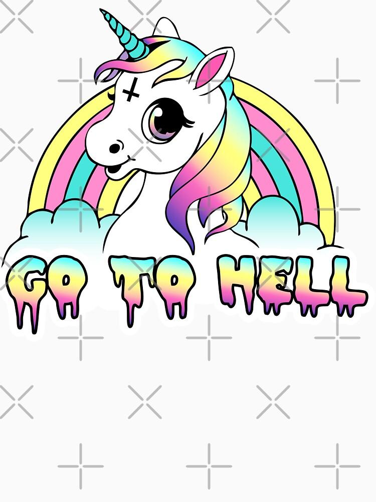 """Go To Hell"" Pastel Goth Unicornio de amygrace"