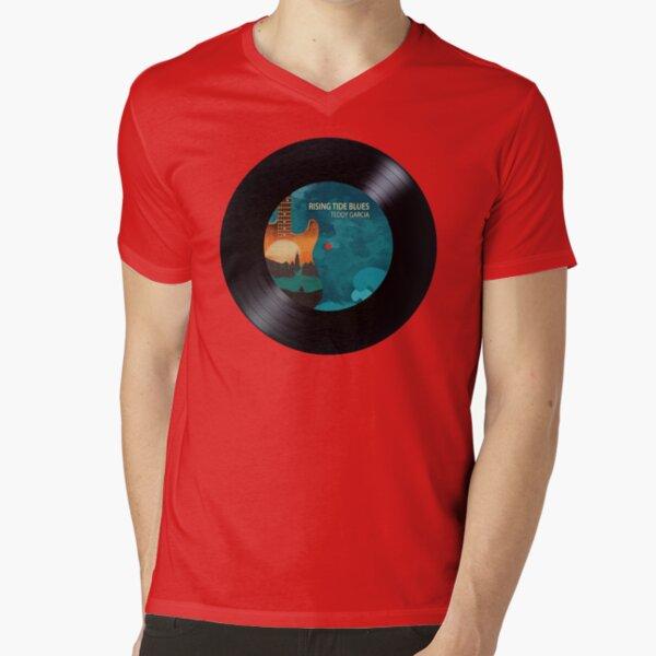 Rising Tide Blues - Aqua Disc V-Neck T-Shirt