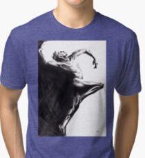 Shadowtwister dancer - conté drawing Tri-blend T-Shirt