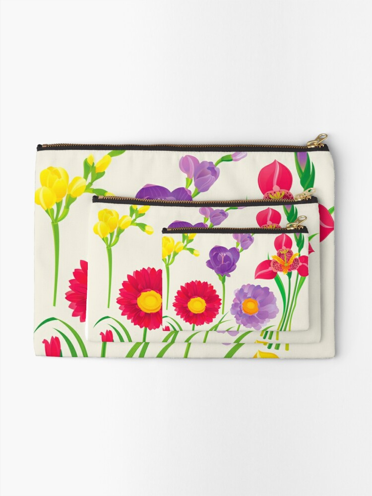 Alternate view of Spring Flowers Zipper Pouch