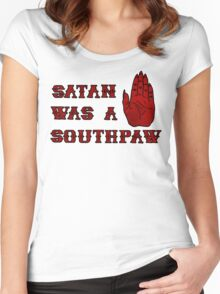 Satan Was A Southpaw Women's Fitted Scoop T-Shirt