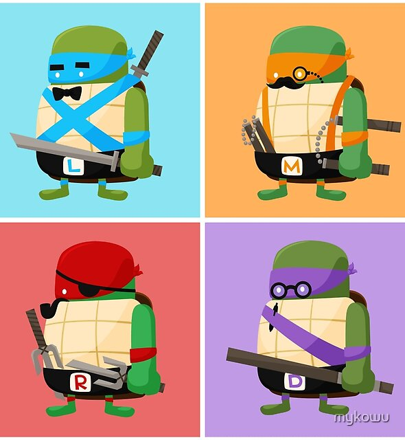 Teenage Mutant Ninja Turtles Pop Art by mykowu