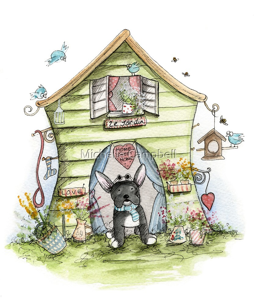 Shabbys House - Dog Cards & Prints  by Michelle Campbell