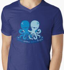 Mehr Waffen Mehr Umarmungen T-Shirt mit V-Ausschnitt für Männer