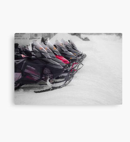 Snowmobiles  Canvas Print