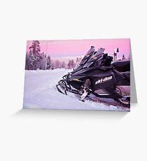 Snowmobiles Greeting Card