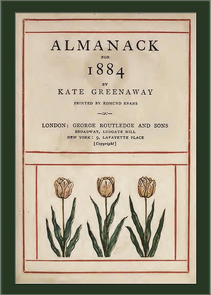 Vintage Greetings-Kate Greenaway Almanack 1884 by Yesteryears