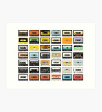 awesome old cassette collection Art Print