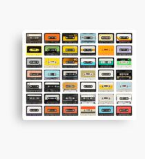 awesome old cassette collection Canvas Print