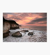Thornwick Bay Sunrise 2 Photographic Print