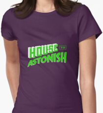 House to Astonish – Green logo Women's Fitted T-Shirt