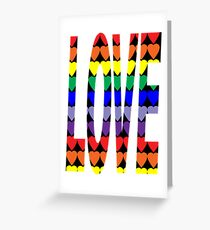 Love Rainbow Hearts Greeting Card