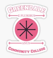 Greendale Community College E Pluribus Anus Sticker
