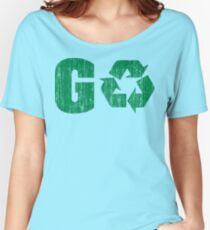 Earth Day Grunge Go Recycle Women's Relaxed Fit T-Shirt