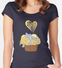 I Heart Muffins Women's Fitted Scoop T-Shirt
