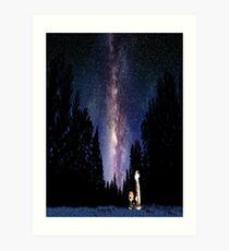 Calvin And Hobbes In The Night Art Print