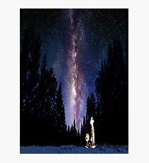 Calvin And Hobbes In The Night Photographic Print