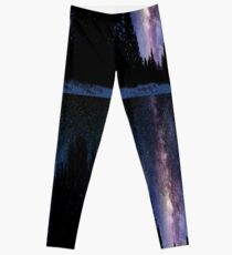 Calvin And Hobbes In The Night Leggings