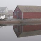 Foggy morning, Fogo Island by Jean Knowles