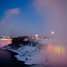 Moon over Niagara! by vasu