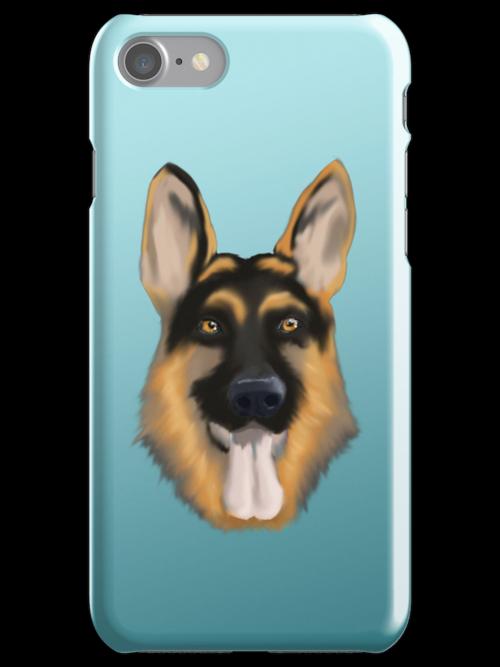 German Shepherd iPhone Case by Andrew Perry
