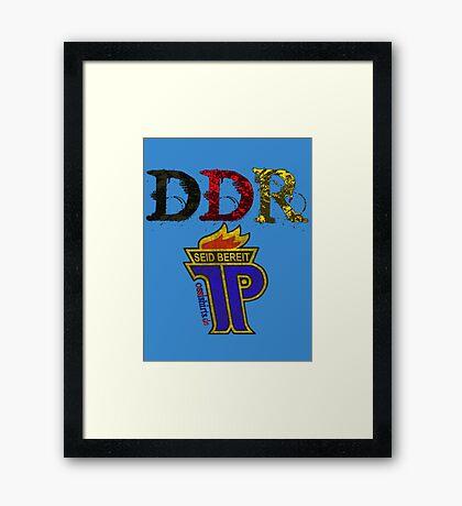 DDR - JP Emblem (black-red-gold) Framed Print